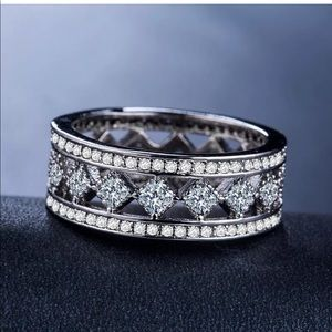 925 S Pretty Princess Cut White Sapphire Ring #63